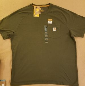 NWT Army green men's  XL carhartt  T-shirt